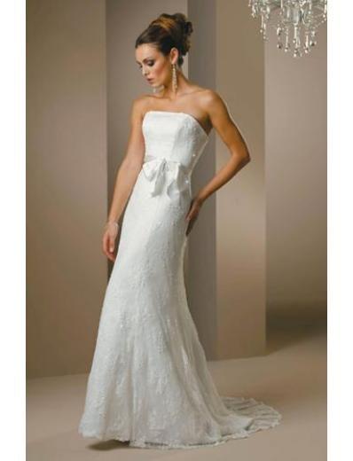 A-Line/Princess Strapless Chapel train Chiffonwedding dress for brides new style(WDA1411)