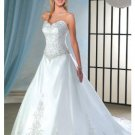 A-Line/Princess Sweetheart Chapel train Satin wedding dress for brides new Style(WDA0056)