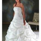 A-line/Princess Strapless Cathedral Train Taffeta wedding dress for brides new style(WDA0070)