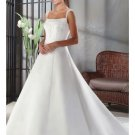 A-Line/Princess Square Chapel Train Satin wedding dress for brides new style(WDA0023)