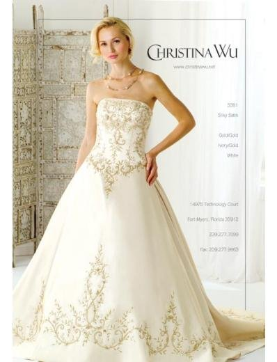 A-Line/Princess Strapless Chapel Train Stain wedding dress for brides gowns new style(WDA1583)
