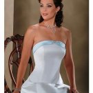 A-Line/Princess Strapless Chapel Train Satin wedding dress for brides gowns new style(WDA0006)