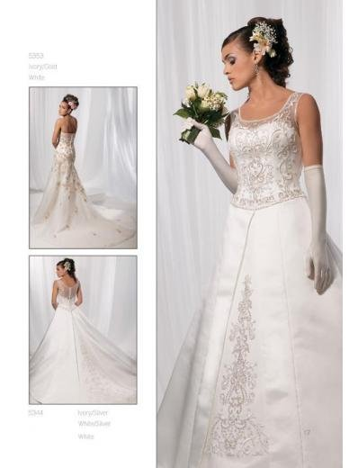 A-Line/Princess Scoop Cathedral Train Stain wedding dress for brides gowns new style(WDA1581)