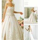 A-Line/Princess spaghetti straps Chapel Train Stain wedding dress for brides gowns new(WDA1587)