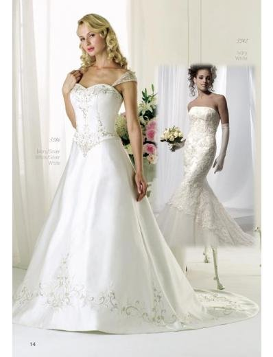 A-Line/Princess Off-the-shoulder Chapel Train Stain wedding dress for brides gowns new(WDA1584)
