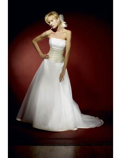 A-Line/Princess trapless Chapel Train Satin wedding dress for brides gowns new style(WDA0622)