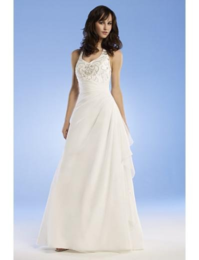 A-Line/Princess Halter Top Chapel train Chiffon wedding dress for brides gowns new Style(WED0056)