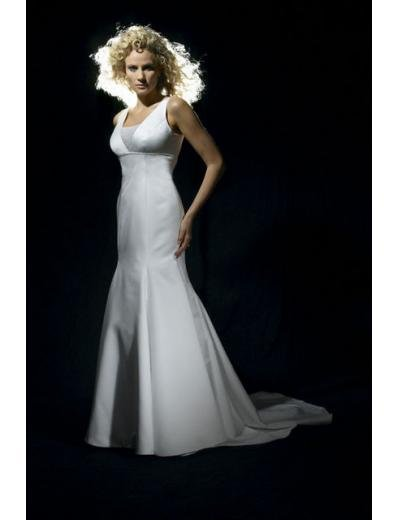 A-Line/Princess Square Chapel Train Satin wedding dress for brides gowns new style(WDA0657)