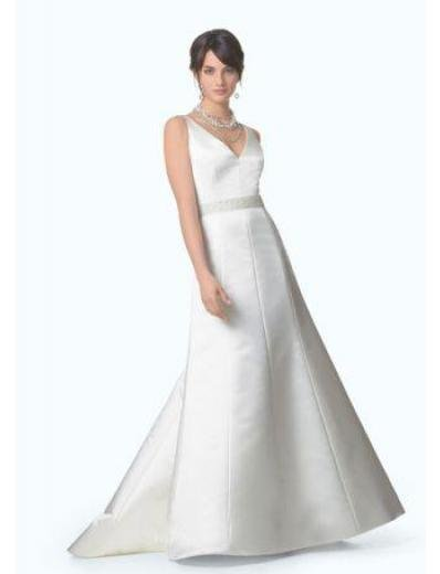 A-Line/Princess Strapless Chapel Train Satin wedding dress for brides gowns new Style(WD0282)