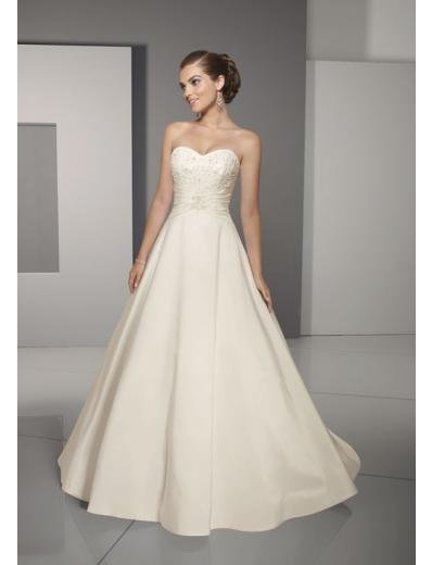 A-Line/Princess Strapless Chapel Train Satin wedding dress for brides gowns new Style(WD0274)