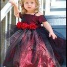 A-Line/Princess Square Tea-length taffeta Children's Christmas dress (06)