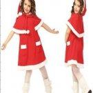A-Line/Princess knee-length Velvet Children's Christmas dress (07)
