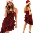 A-line /Princess Strapless knee-length Satin Evening Dresses  (35)