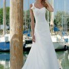 A-Line/Princess Asymmetric Chapel Train Chiffon wedding dress for brides 2010 Style(WD0210)