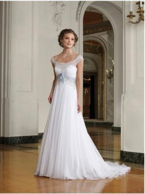A-line/Princess Strapless Cathedral Satin wedding dress for brides 2010style(WDA36)