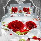 pink rose flower printed cotton bed linens girls bedding comforter set queen quilt duvet covers