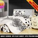 white black polka dot pattern cotton bed linens bedding comforter set queen quilt duvet covers