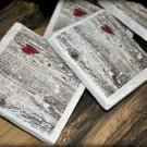 """""""Naturally Yours"""" Marble Coaster, shipping included to US"""