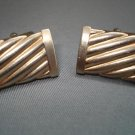 CUFF LINKS: Vintage Men's Goldtone Rectangular Cufflinks