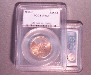 COINS: Sacagawea (PCGS MS65)