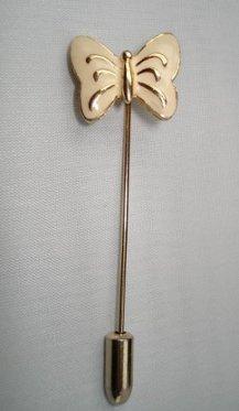 BROOCH (PIN): Trifari Vintage Women's Yellow Butterfly