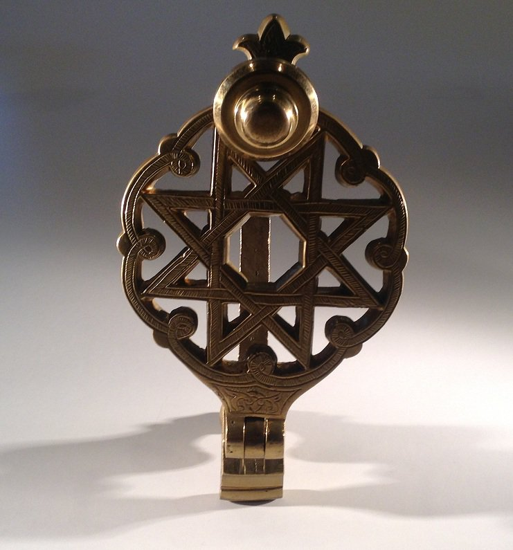 DOOR KNOCKER:  Solid brass star