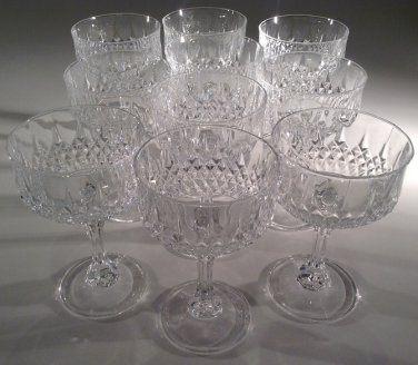 STEMWARE:  crystal classic cocktail coupe