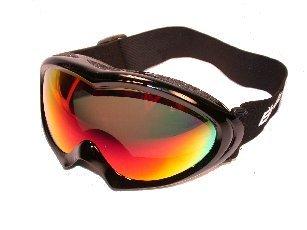 BIRDZ Ice Bird Ski Snowboard Snow Sports Goggles Black