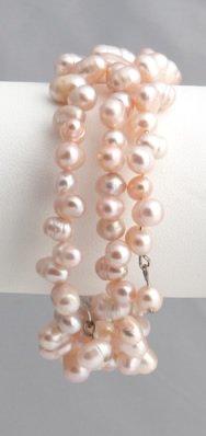 Lavender Pearl Bracelet