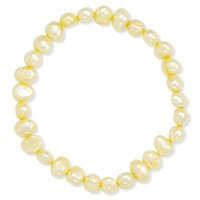 Yellow Freshwater Pearl Stretch Bracelet