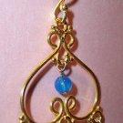 Smoky Quartz and Blue Agate Gold Vermeil Earrings