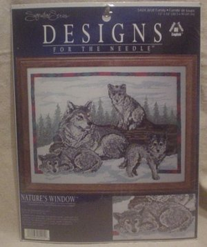 """Designs For The Needle """"Wolf Family"""" Cross Stitch Kit"""