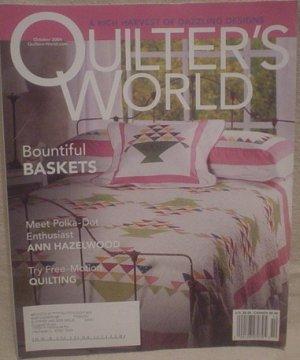 Quilter's World Magazine October 2004 Vol 26 No. 5