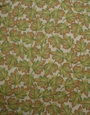 """""""Leaves of Autumn"""" by Joan Pace Baker Fabric"""