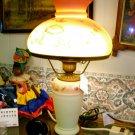 FENTON ART GLASS BURMESE TABLE LAMP