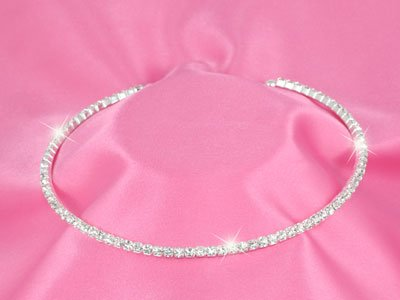 Clear Austrian Crystal Neck Wire