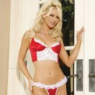 Satin & Lace Cami & G-String Lingerie
