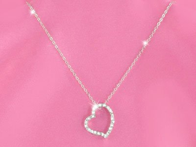 Crystal Austrian Crystal Heart Necklace