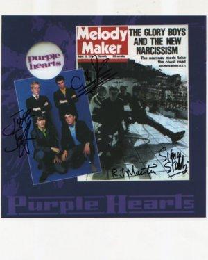 "The Purple Hearts FULLY SIGNED 8"" x 10"" Photo COA 100% Genuine"