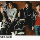 "Razorlight FULLY SIGNED 8"" x 10"" Photo COA 100% Genuine"