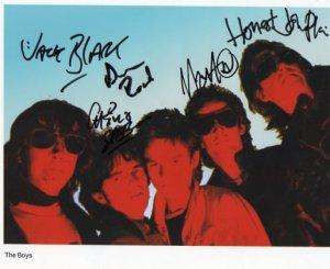 """The Boys UK Punk FULLY  SIGNED 8"""" x 10"""" Photo COA 100% Genuine"""