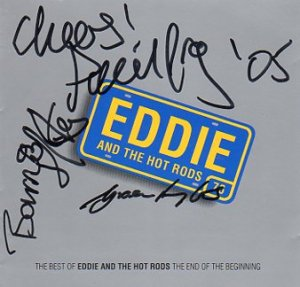 Eddie & The Hot Rods SIGNED Album COA 100% Genuine