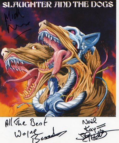 """Slaughter & The Dogs FULLY SIGNED 8"""" x 10"""" Photo COA 100% Genuine"""