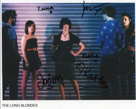 """The Long Blondes FULLY SIGNED 8"""" x 10"""" Photo COA 100% Genuine"""