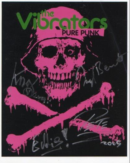 "The Vibrators FULLY SIGNED 8"" x 10"" Photo COA 100% Genuine"