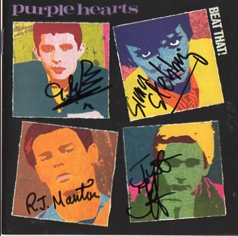 The Purple Hearts FULLY SIGNED Album COA  100% Genuine
