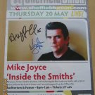 The Smiths SIGNED Poster COA  100% Genuine