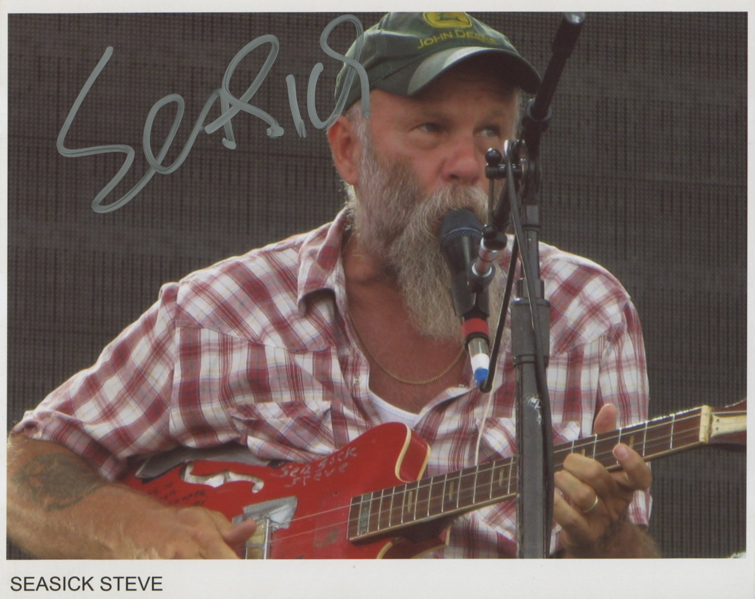 Seasick Steve SIGNED Photo 1st Generation PRINT Ltd 150 + Certificate (1)