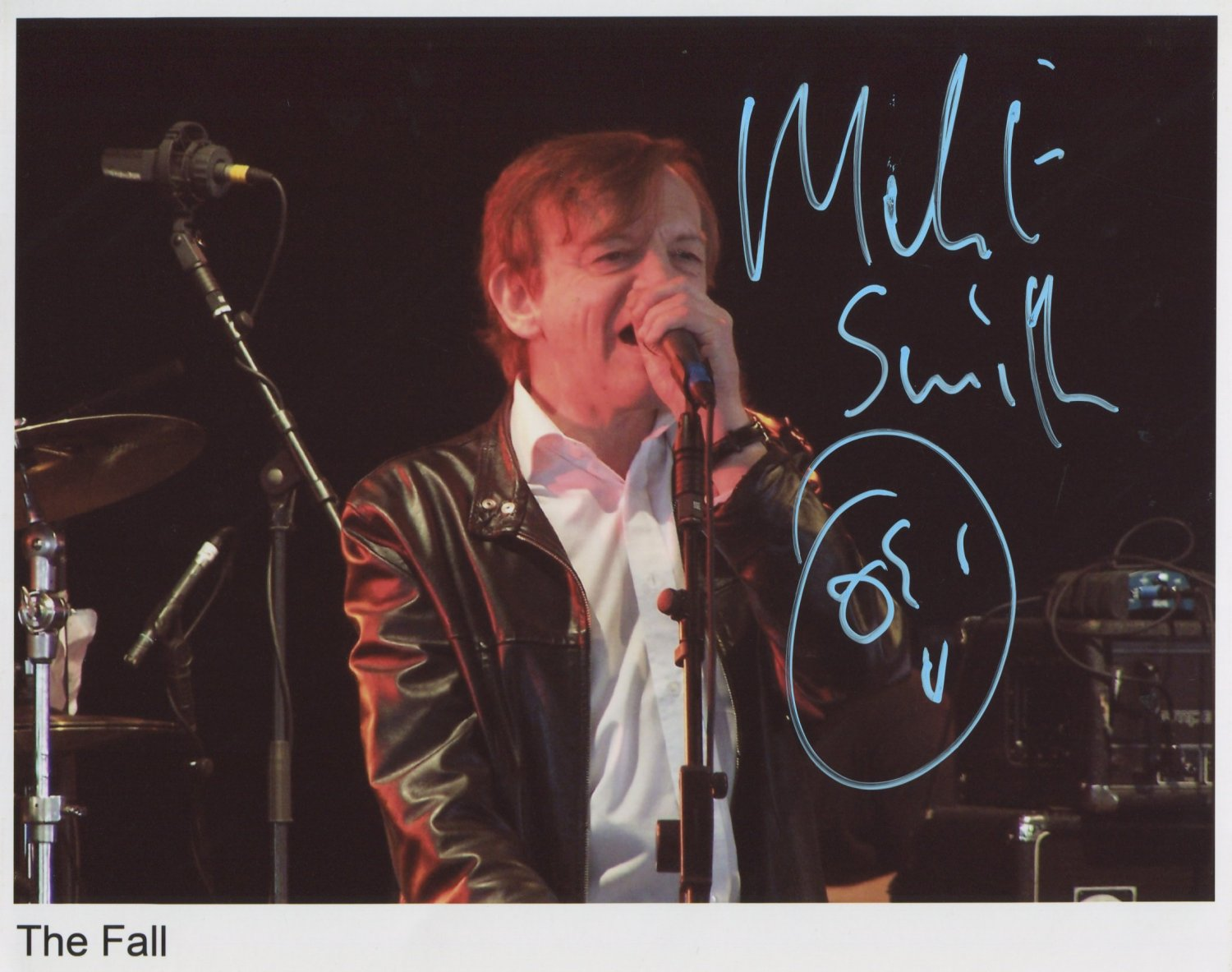 Mark E Smith The Fall SIGNED Photo 1st Generation PRINT Ltd 150 + Certificate (1)
