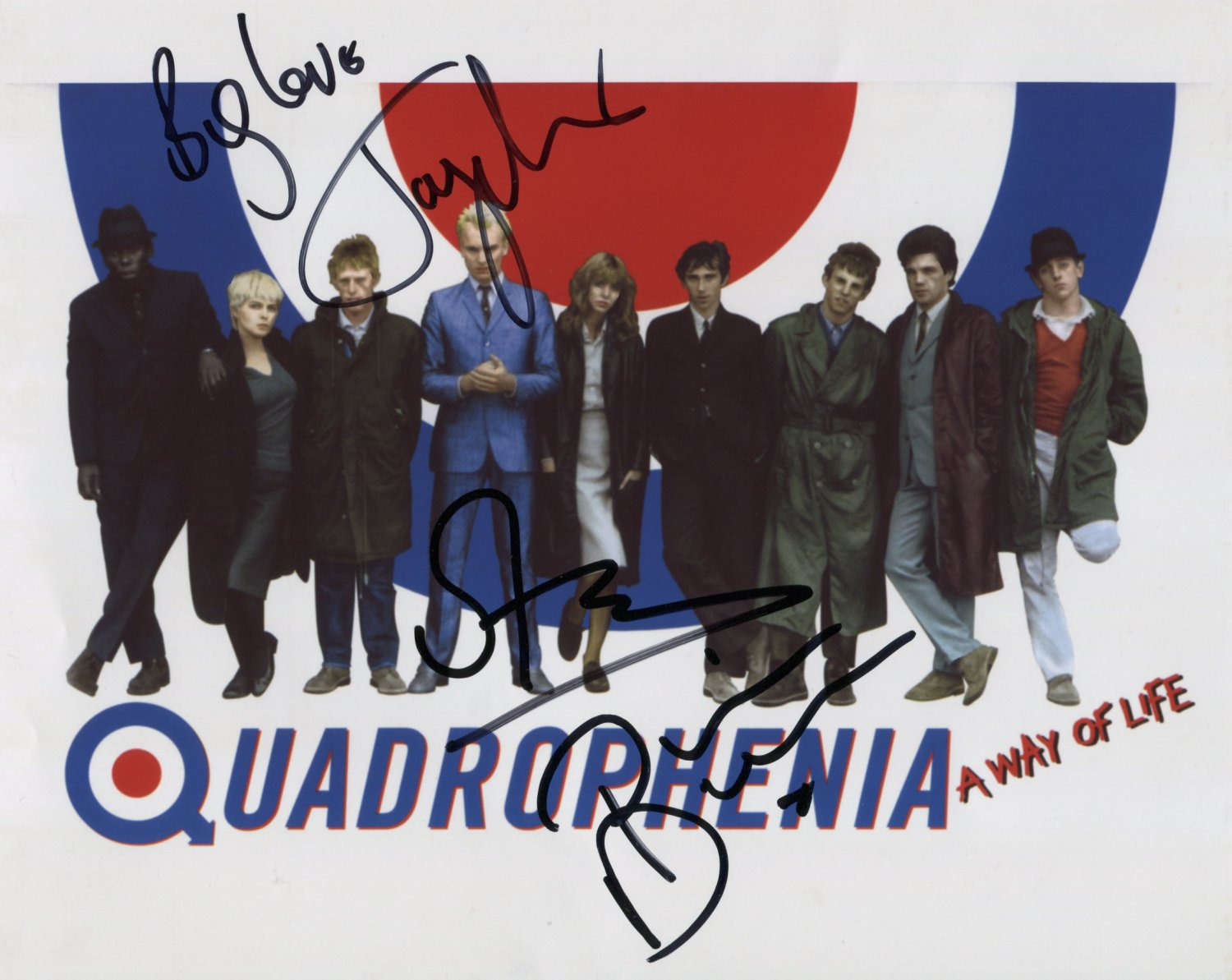 Quadrophenia SIGNED Photo 1st Generation PRINT Ltd 150 + Certificate (1)